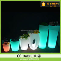 Hot New Products For 2014 ! Magic Large Plastic Flower Pots Cheap LED With Color Changing Lighting And Patent Battery