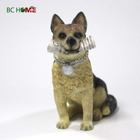 Resin Dog Ornament Home Decoration Garden