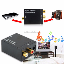TTD Factory Price Digital to Analog Audio Converter Adapter Digital Adaptador Optic Coaxial RCA Toslink Signal to Analog Audio