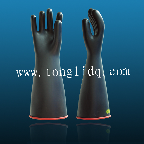 High Voltage Resistance Electrical Nutrile Rubber Insulation Gloves 1kv-36kv