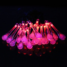 Solar Waterproof Christmas Lights 33ft 10m 100 LED Solar Fairy String Lights For Outdoor Christmas Party Decoration Lamp