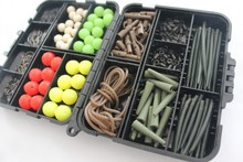 Carp Fishing Terminal Rigs set Carp Tackle Box loaded with teflon carp hook, boilies floating baits safety lead clips set