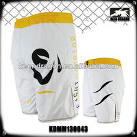 Men's boxing garment 100% polyester printed mma shorts training gear