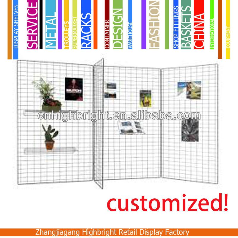 wire mesh panle collapsible drawing display stand