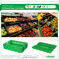 plastic fruits storage folding crate