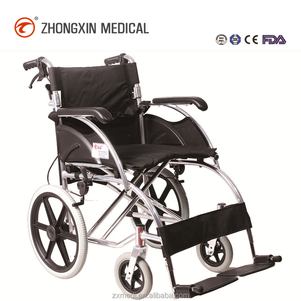 Low Backrest Aluminum Travel Wheelchair