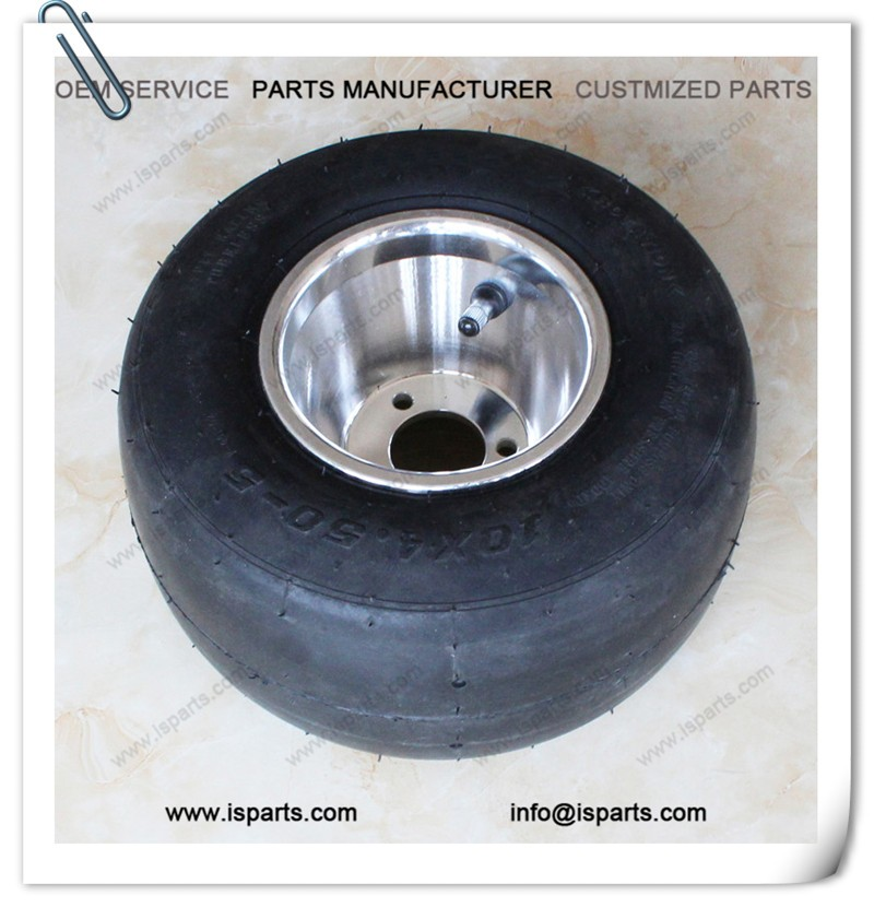 Aluminum go kart parts10x4.5-5 go kart wheel for sale