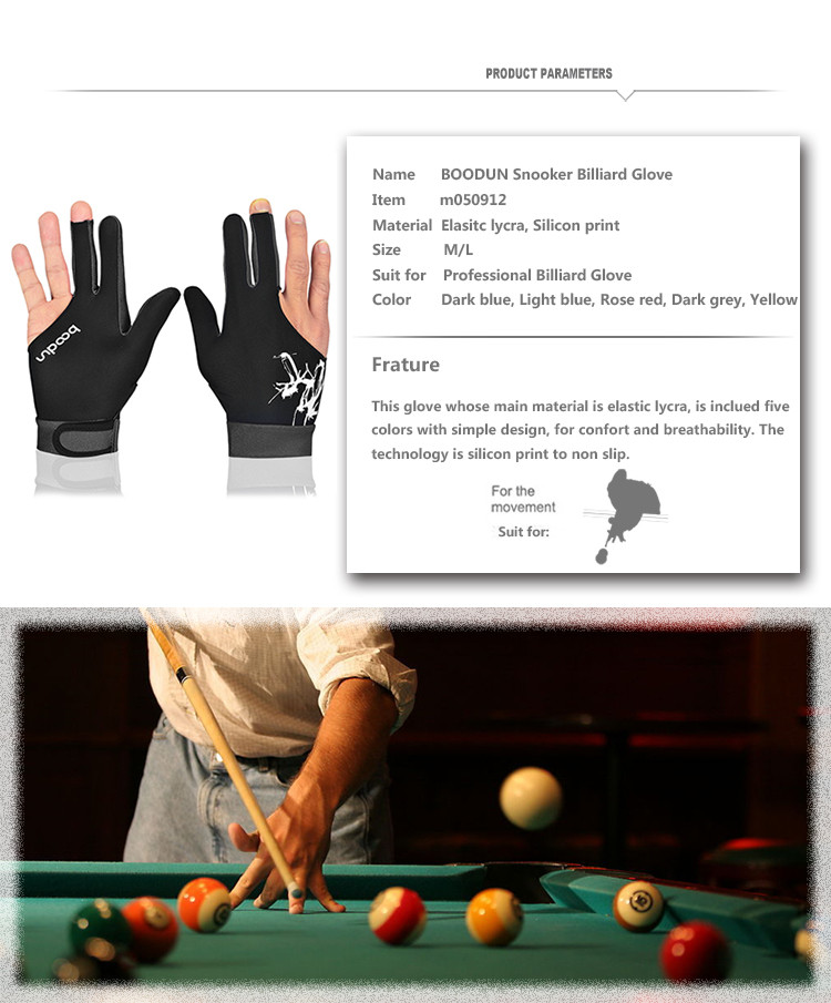 Custom Microfiber Billiards Gloves