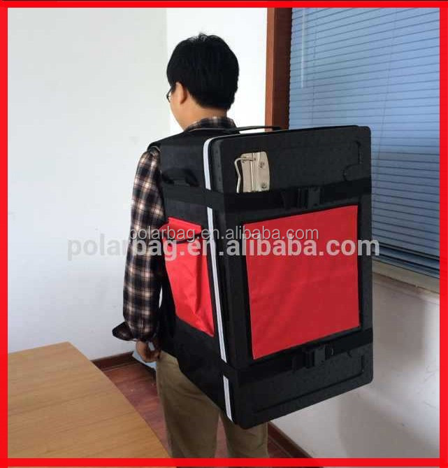 45L EPP insulated back pack food pizza delivery box for motorcycle and bicycle
