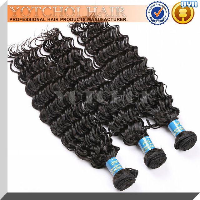 Wholesale cheaper Grade 5A Peruvian deep wave human virgin hair weaves