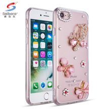 Cute pattern Diamond Tpu cell phone case for iphone 8 8s