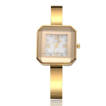 ladies gold wrist watches Big dial, dial gold watch belt, fashion atmosphere Gold watch
