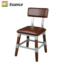 Fast delivery wooden chair furniture designs wood metal combined chair