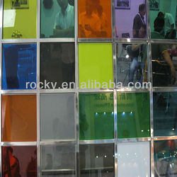 color changed laminated glass