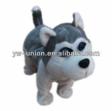 Walking Hip Moving Singing Music Animated Mechanical Stuffed Plush Husky Dog Toy