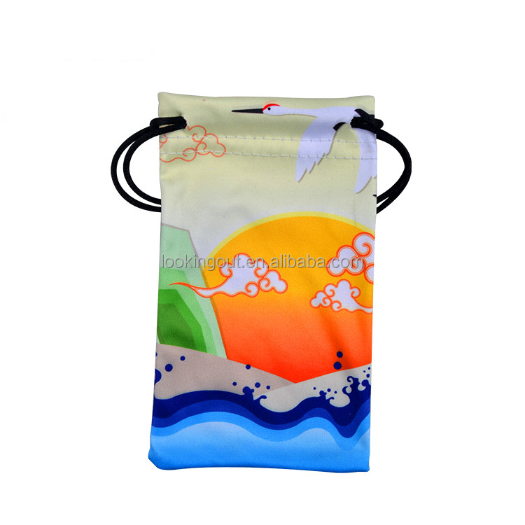 microfiber advertise brand custom pouch for samsung s4