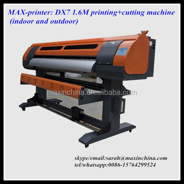 MAX-printer DX5/DX7 1.6M eco solvent printing and cutting machine