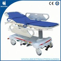 China BT-TR008 Hospital Patient Hydraulic Transport Stretcher, automatic loading ambulance stretcher