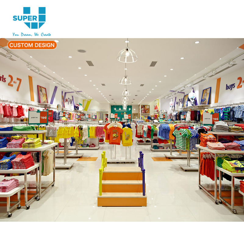 Cute Babies Retail Interior Clothes Store Decorations Jackets Baby