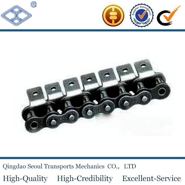 ISO DIN standard 10B-1 pitch 15.875mm A1 attachment B series simplex transmission roller chain