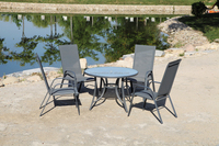 TOP SALE BEST PRICE! good Quality Garden/beach set dining round table and chair set from direct manufacturerLX-T-026#