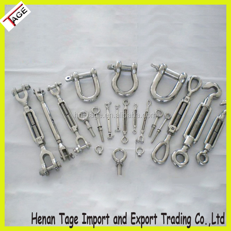 Chain Turnbuckles Shackles Hooks Clips Riggings