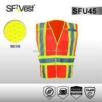 hi vis workwear mesh safety vest motorcycle reflective vest road safety equipment workwear 5 point breakaway vest