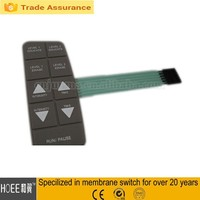 Flat Button Silicone/Rubber Membrane Switch Keypad 3M Adhesive