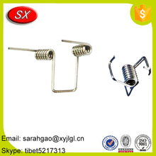 Adjustable zinc plated brass coated double torsion spring for sale from manufacturer of Shuangxin