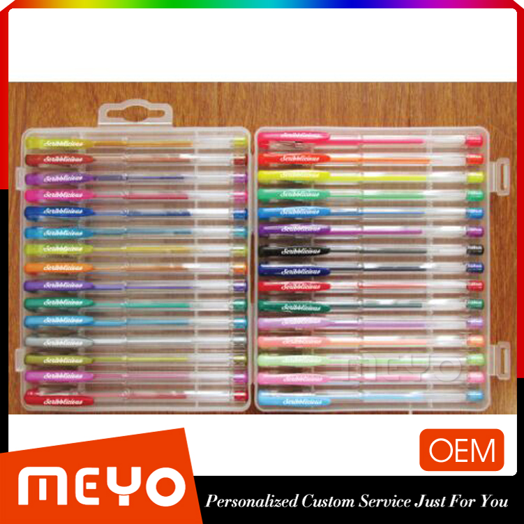 Coloured gel pen set office gel ink pen indelible refill pen