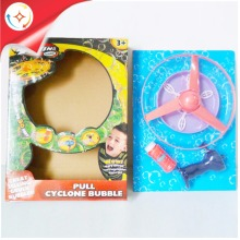 Pull String Cyclone UFO Bubble Flyer Frisbee