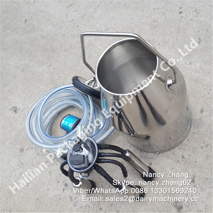 Sanitary Stainless Steel Portable Milker for Dairy Cows