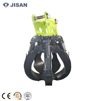 27tons excavator hydraulic scrap grapple excavator scrap grab hydraulic orange peel grab grapple rotational grab