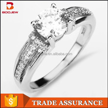 Top selling costume jewelry in hong kong 925 silver wedding ring for women