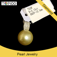 100% natural south sea 18k750 gold pearl South Africa diamond body jewelry