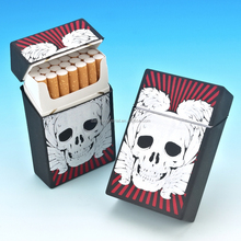 2017 New arrival silicone slim cigaretter case/cigarette cover/cigarette box with different printing designs