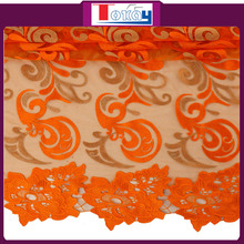 2016 low price wholesale french lace bridal lace fabric wholesale for lady in wedding or party color orange