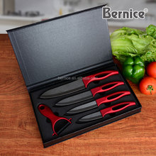 Premium Ceramic Knife Set 5 Pieces Polished White Blades Chef Recommended