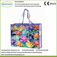 best sale casual style pp non woven shopping bag with zipper