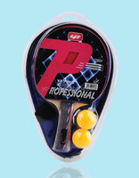 high quality ping pong racket / 1 racket & 2 ball & 1 bat case