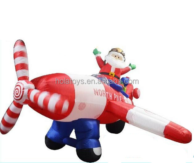 Hola <strong>inflatable</strong> santa claus plane/christmas <strong>inflatable</strong>/<strong>inflatable</strong> christmas