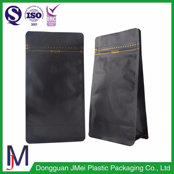 White Package Aluminum Foil Coffee Bag 250g/500g Flat Bottom Pouch With Valve