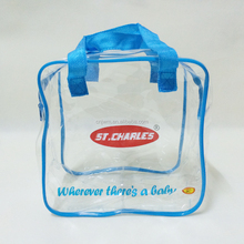 Customized waterproof transparent zipper big clear plastic gift bag pvc