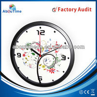 12inch metal wall clock with home decoration/iron wall decor/flip clock