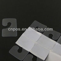 PVC adhesive j hook for supermarket hanging