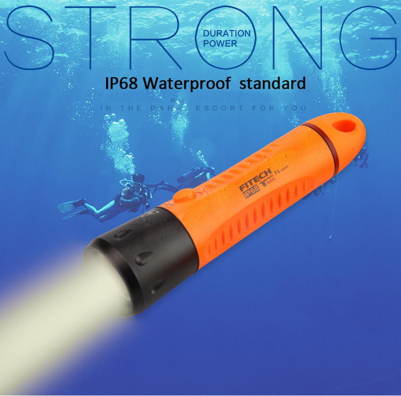 Bulit-in Battery High Quality Underwater Diving Torch XML <strong>U2</strong> <strong>LED</strong> Diving Flashlight Waterproof Focus Diving Flashlight