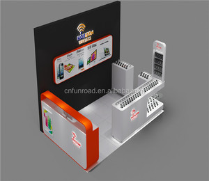 mobile display cabinet cellphone accessory display kiosk
