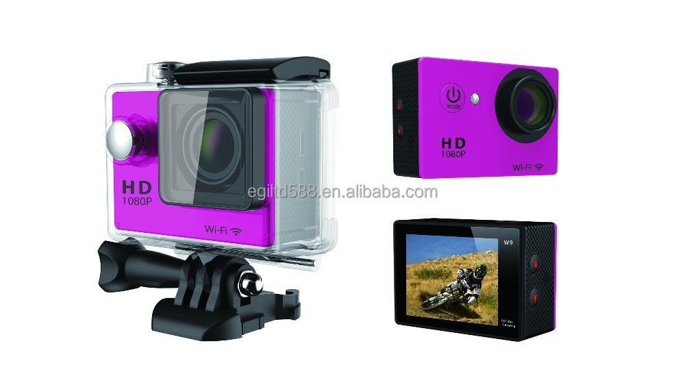 "New SJ6000 Style WIFI Action Camera W9 wifi 12MP CMOS Full HD 1080P 30FPS 2.0""LCD Diving 30M Waterproof Sport DV CAM"
