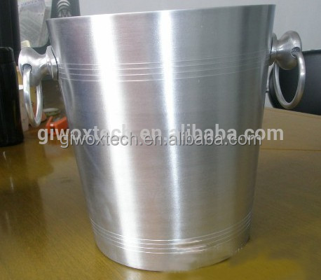 Silver Aluminum champagne ice bucket