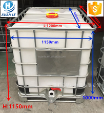 Poly used plastic ibc tank container tote 1000l with steel cage